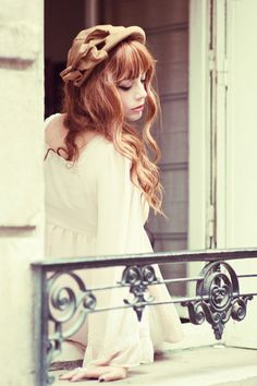 vintage pretty women   ... hat, photography, red hair, vintage - inspiring picture on Favim.com