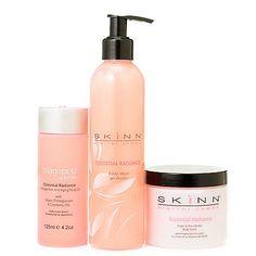 309-558 - Skinn Cosmetics Essential Radiance Body Wash, Polish & Oil Trio