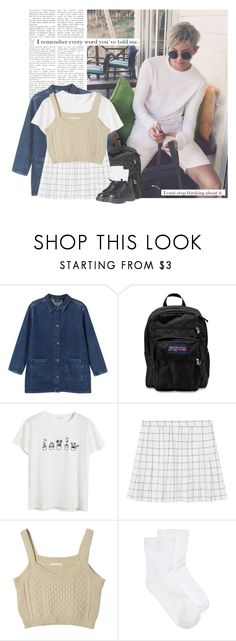 """""""Namjoon: i remember every word you´ve told me. i can stop thinking about it."""" by yxing ❤ liked on Polyvore featuring Monki, JanSport, Chicnova Fashion, Hue, nice, kpop, bangtan and Namjoon"""