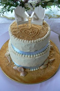 Beach cake @Kayla Barkett Barkett Barkett Jech....the proportions are awful on this cake but the general idea seems to be what u want!