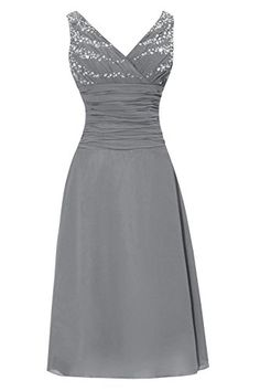 Dora Bridal V-Neck Chiffon Mother Of The Bride Dresses Tea Length Size 16 US Steel Grey Dora Bridal http://www.amazon.com/dp/B014ONY766/ref=cm_sw_r_pi_dp_2-rjwb1SQE3F9