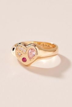 Scosha Night Market Diamond Ring by Anthropologie in Pink Size: Jewelry Diamond Rings For Sale, The Bling Ring, Buying An Engagement Ring, Delicate Rings, Signet Ring, Vintage Rings, Fashion Rings, Ring Designs, Women Jewelry