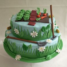 Garden Cake by Geertje - For all your cake decorating supplies, please visit craftcompany. co uk