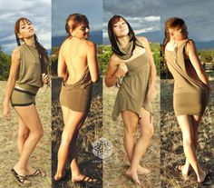 The Versa Dress is the ultimate travel wear! It easily converts to a skirt, a shirt, a hooded halter top or billowy poncho. You can wear it long,