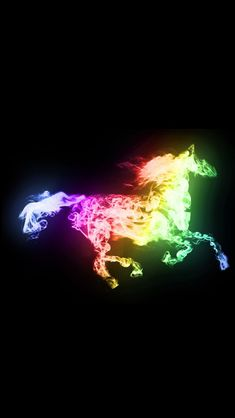 Multicolor Horse for your iPhone Wallpaper  Find more galleries for your iPhone Wallpaper at http://iphone5retinawallpaper.com/