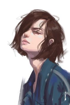 ArtStation - A languid is lazy, qu zhao Pretty Art, Cute Art, Aesthetic Art, Aesthetic Anime, Art Sketches, Art Drawings, Witcher Wallpaper, Digital Art Girl, Boy Art