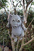 Statue de dragon de jardin à laver Journée à suspendre Dragon Figurine Statue de jardin 28cm