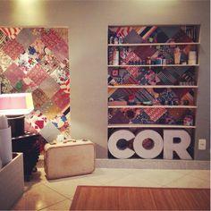 Casa de Colorir: Como fazer uma parede de Patchwork