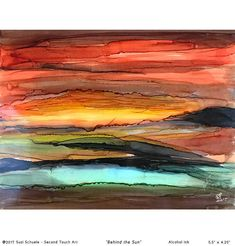 """Abstract Alcohol Ink Painting 