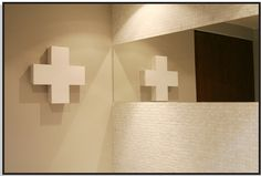 first aid cross medicine cabinet Bathroom Inspiration, Metal Cabinet, Inspiration, Home, Wooden, White Wooden Box, Cabinet, Wall Lights, Home Decor
