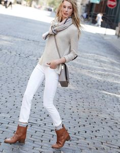 60 Trendy ideas how to wear white pants in winter work outfits Sweater Outfits, Fall Outfits, Work Outfits, Stylish Outfits, Sweater Scarf, Fashion Outfits, Church Outfits, Dressy Outfits, Girly Outfits