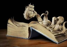 I want a 20,000 Leagues Under The Sea pop up book that looks like this... :)