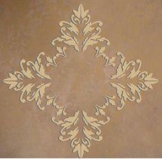 Raised Plaster Acanthus Leaf Ceiling Medallion Wall Stencil ...