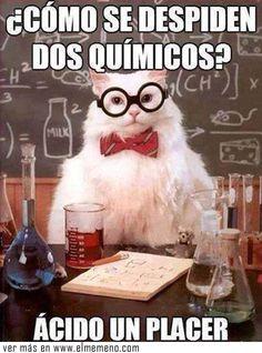 La forma correcta de despedirse de un químico - El Meme NO