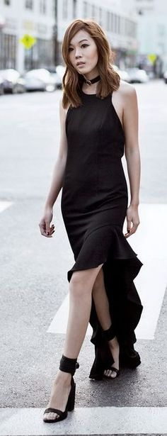 High And Low Black Maxi Dress                                                                             Source