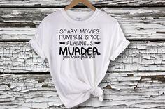 Scary Movies, Pumpkin Spice, & Murder T-shirt - XL