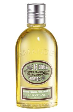 LOccitane Almond Shower Oil available at #Nordstrom  A Bestseller - amazing almond scent and super moisturizing, oil turns into a softening foam.