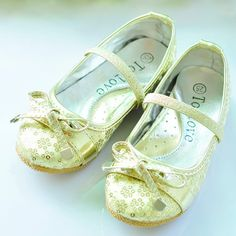 Gold Sequin Little Pageant Party Flower Girl Girls Mary Jane Shoes SKU-133094