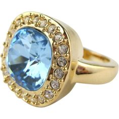 $199.00-$199.00 Bling by Wilkening 18 Kt. Gold Plated English Azure Ring-Sz. 8 (Aqua) - Inspired by the Victoria  Albert Museum in London, this stunning ring is crafted of a meticulously faceted aquamarine Swarovski crystal and is plated in 18 kt. gold. http://www.amazon.com/dp/B006CS1KEY/?tag=pin0ce-20