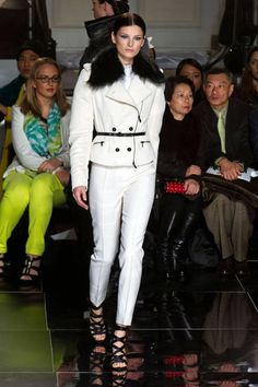 White and black at Jason Wu Fall 2013 #NYFW