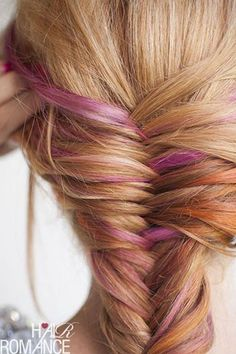 Thinking of doing something FUN to my hair...along these lines, but perhaps a little more vibrant pink!  Thoughts? Yay or Nay? Other suggestions?  Click below to comment! I'm open to anything...except cutting it off! I love my long hair