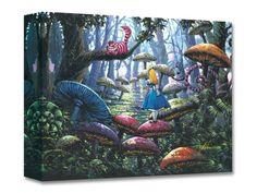 "Alice in Wonderland Wall Art ""A Smile You Can Trust"" by Rodel Gonzalez - Disney Fine Art Treasures on Canvas"