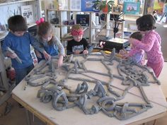 Providing children with different materials such as clay allows them to be creative in what they make while sharing ideas with others. This is also an example of Social constructivism in the classroom