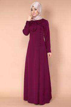 Yandan Aksesuar Düğmeli Fularlı Elbise MSW8053 Bordo