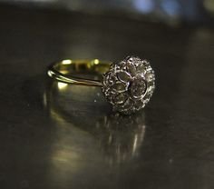 #flowering #ring #yellowgold #gold #whitegold #diamonds #handpierced #handmade #blackroom #greenpoint #capetown