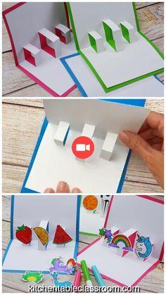 Créez Votre propre Carte en 3D avec gratuit Pop-up modèles de cartes - The Kitchen Table Classroom #ideesdecuisine #cuisinemoderne