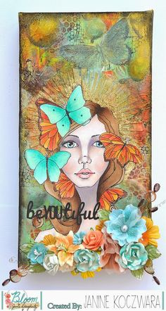 Bloom Girl Design Team: BeYOUtiful Bloom Canvas