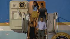 First family arrives for annual vacation in Hawaii