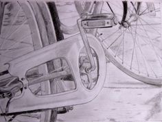 Min cykel / My bicycle / Pencil drawing