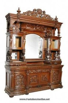 ~ Antique Sideboard ~wow i would love to have this Antique Furniture For Sale, Victorian Furniture, Vintage Furniture, Furniture Decor, Victorian Home Decor, Victorian Interiors, Victorian Homes, Victorian Era, Antique Sideboard