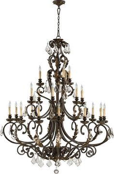 """$2189.Rio Salado Family 51"""" Toasted Sienna With Mystic Silver Chandelier 6157-21-44"""