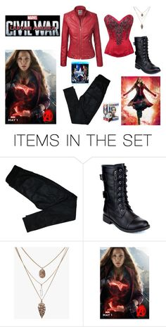"""""""scarletwitch"""" by mariel-rubio ❤ liked on Polyvore featuring art, contestentry and CaptainAmericaCivilWar"""