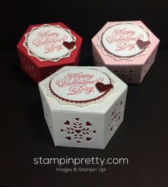 Stampin Up Window Box Valentine - Mary Fish stampinup