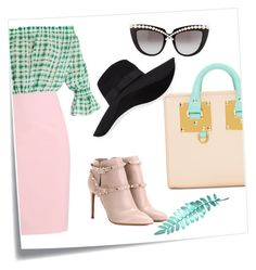 """""""Hat day"""" by behijadedic ❤ liked on Polyvore featuring Post-It, Emilio De La Morena, Valentino, Sophie Hulme, San Diego Hat Co. and Anna-Karin Karlsson"""