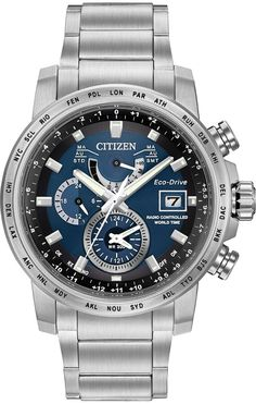 ee7fb7631ce Citizen Eco-Drive World Time A-T Mens usd 270 Watch AT9070-51L