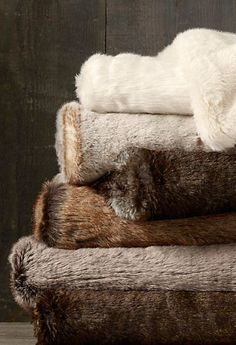 "Luxe Faux Fur Throws - 50"" X 60"""