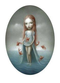 "Beautiful Nightmares by Nicoletta Ceccoli   Forbidden Fruit"" , qui conjugue peut⁻etre davantage que les autres ..."