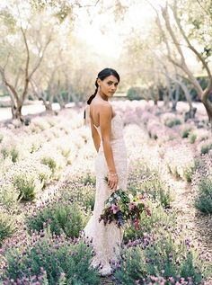 Regal Bride | Classically Elegant Lavender Wedding Inspiration at San Ysidro Ranch by Jen Rodriguez Photography Fine Art Wedding Photography, Wedding Photography Inspiration, Wedding Inspiration, Bridal Gowns, Wedding Gowns, Plant Wedding Favors, Denver Wedding Photographer, Flower Bouquet Wedding, Beautiful Gowns