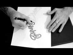 Script letters by yoh dabrooks