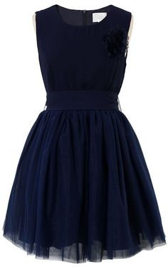 Navy Blue Bow Tulle Dress ♥