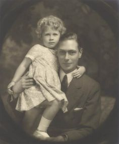 Albert, Duke of York, and his daughter, Princess Elizabeth, in July 1929.