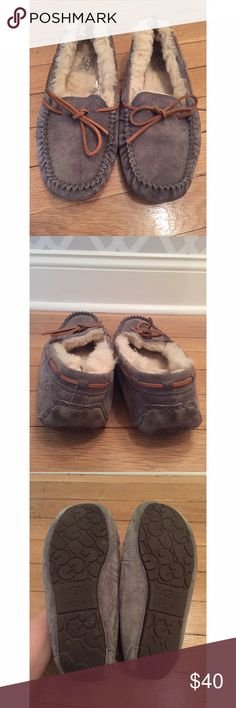 {UGG} Moccasins Worn less ham 5 times. Show some signs of wear in the fur in the back (see last pic). Overall in very good condition. UGG Shoes Moccasins