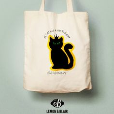 The best c.a.t tote bag Cool Cats, Reusable Tote Bags, Fabric Purses