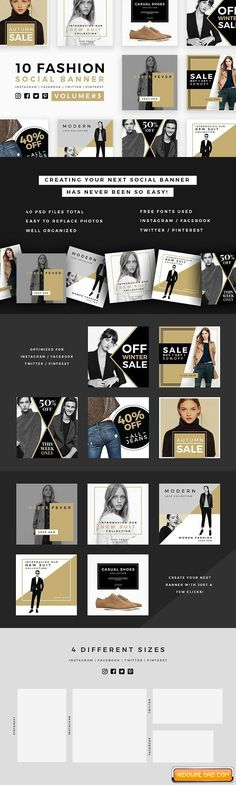 Fashion Social Banner Pack 3 Free Download | Free Graphic Templates, Fonts, Logos & Icons, PSD, AI