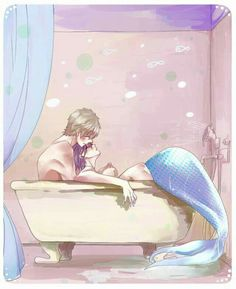 MakoHaru ♡ Makoto Tachibana x Haruka Nanase (Free! Dive to the Future and High☆Speed! Mermaid Drawings, Mermaid Art, Anime Mermaid, Character Art, Character Design, Makoharu, Haruka Nanase, Free Eternal Summer, Free Iwatobi Swim Club