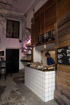 Snickarbacken 7 | Stockholm #elmigerdesign #suggestion #bars unique idea for coffee shop. urban style
